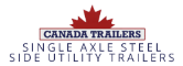 Single Axle Steel Side Utility Trailers