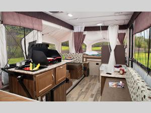 Inside - 2017 Clipper Camping Trailers 128LS Folding Pop-Up Camper