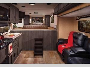 Inside - 2017 Work and Play 40RLS Toy Hauler Fifth Wheel