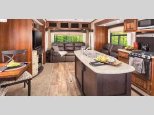 Inside - 2012 Eagle 321RLMS Fifth Wheel