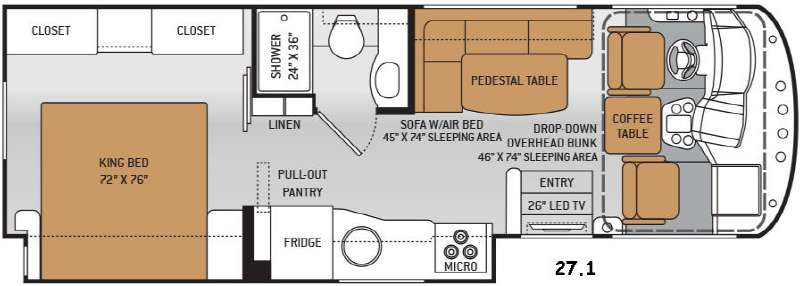 Used 2015 Thor Motor Coach Ace 27 1 Motor Home Class A At
