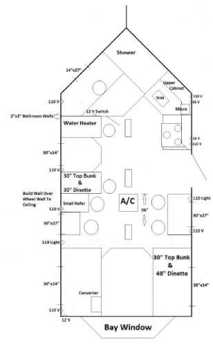 New 2016 ice castle fish houses 17 ft rv edition for Ice castle fish house floor plans