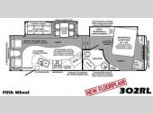 Floorplan - 2011 Forest River RV Wildcat 302RL