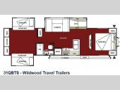 Floorplan - 2013 Forest River RV Wildwood 31QBTS