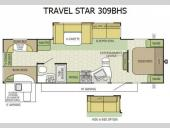 Floorplan - 2015 Starcraft Travel Star 309BHS