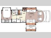 Floorplan - 2007 Forest River RV Lexington 283TS