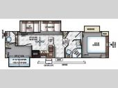 Floorplan - 2017 Forest River RV Flagstaff Classic Super Lite 8528BHWS