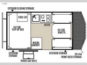 Floorplan - 2015 Forest River RV Flagstaff Hard Side T12BH