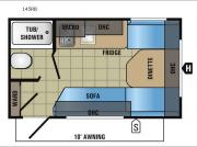 Floorplan - 2017 Jayco Jay Flight SLX 145RB