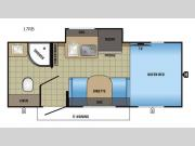 Floorplan - 2017 Jayco Hummingbird 17RB