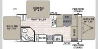 Floorplan - 2017 Coachmen RV Freedom Express 21TQX