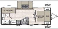 Floorplan - 2017 Coachmen RV Freedom Express 236BHS