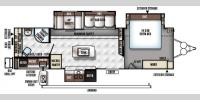 Floorplan - 2017 Forest River RV Rockwood Signature Ultra Lite 8293IKRBS