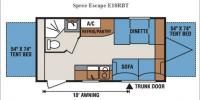 Floorplan - 2017 KZ Spree Escape E18RBT