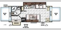 Floorplan - 2017 Forest River RV Flagstaff Shamrock 23WS