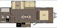 Floorplan - 2017 CrossRoads RV Maple Country MC26RB