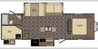Floorplan - 2017 CrossRoads RV Maple Country MC28BH