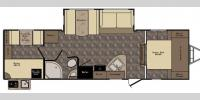 Floorplan - 2017 CrossRoads RV Maple Country MC290QB