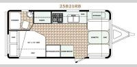 Floorplan - 2017 Bigfoot Industries Bigfoot 2500 Series Travel Trailer 25B21RB
