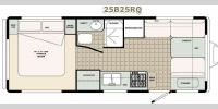 Floorplan - 2017 Bigfoot Industries Bigfoot 2500 Series Travel Trailer 25B25RQ