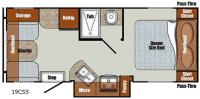Floorplan - 2016 Gulf Stream RV Vista Cruiser 19CSS