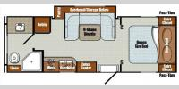 Floorplan - 2016 Gulf Stream RV Vista Cruiser 23BDS