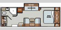 Floorplan - 2016 Gulf Stream RV Vista Cruiser 23RBK