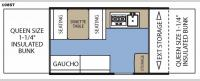 Clipper Camping Trailers 108ST Sport Floorplan Image