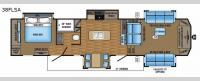 Pinnacle 38FLSA Floorplan Image