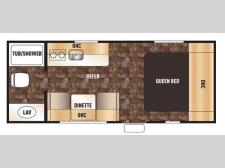 Floorplan - 2016 Forest River RV Cherokee Wolf Pup 16FQ