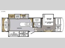 Floorplan - 2017 Forest River RV Cardinal 3250RL