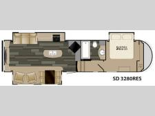Floorplan - 2017 Heartland Sundance 3280RES
