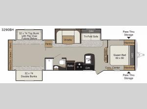 Passport 3290BH Grand Touring Floorplan Image