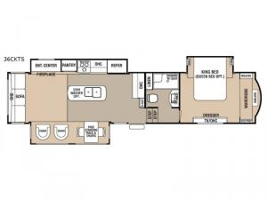 Cedar Creek Hathaway Edition 36CKTS Floorplan Image