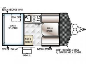 Flagstaff Hard Side T12BH Floorplan Image