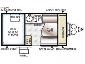 Flagstaff Hard Side High Wall Series 19QBHW Floorplan Image