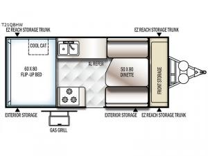 Flagstaff Hard Side High Wall Series 21QBHW Floorplan Image
