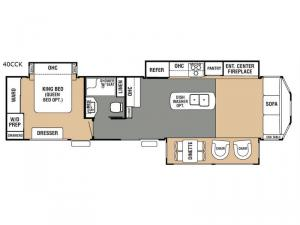 Cedar Creek Cottage 40CCK Floorplan Image