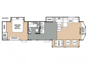 Cedar Creek Cottage 40CFE2 Floorplan Image