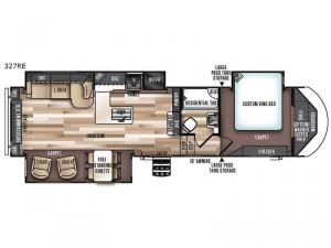 Salem Hemisphere Lite 327RE Floorplan Image