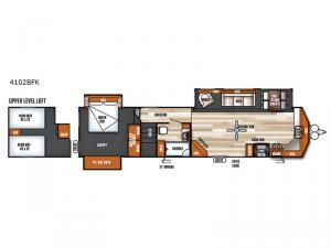 Salem Villa Series 4102BFK Estate Floorplan Image