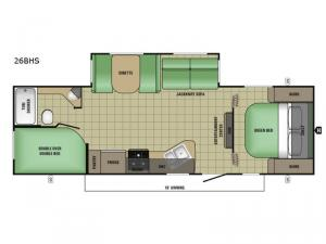 AR-ONE MAXX 26BHS Floorplan Image