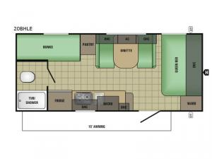 AR-ONE MAXX 20BH LE Floorplan Image