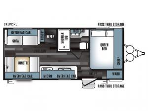 Salem Cruise Lite 191RDXL Floorplan Image