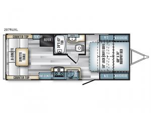 Salem Cruise Lite 207RUXL Floorplan Image