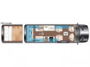 Weekender Sprinter MD4-Lounge Floorplan Image