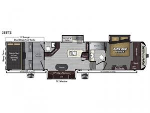 Raptor 355TS Floorplan Image