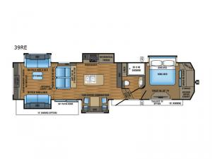 Designer 39RE Floorplan Image