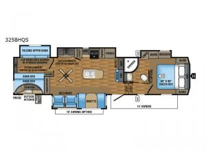 Eagle 325BHQS Floorplan Image