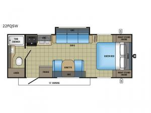 Jay Feather 22FQSW Floorplan Image